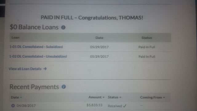 Student loans 0